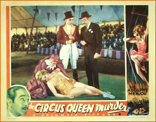 Promotional Poster for tje Circus Queen Murder 1933