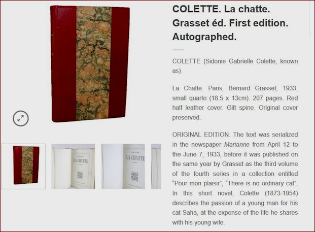 La Chatte by Collette offered for sale details