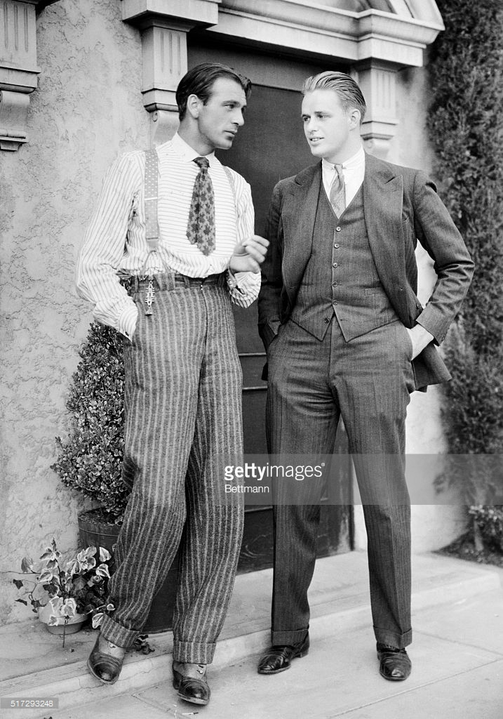 Gary Cooper and Roosevelt Jnr 1933