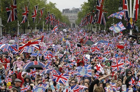 The Mall Jubilee Crowds