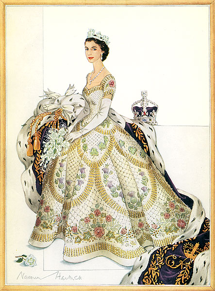 HM Coronation Dress Hartnell