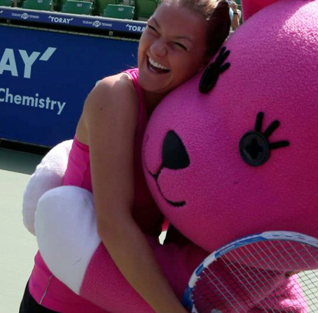 Aga and Giant Pink Toy
