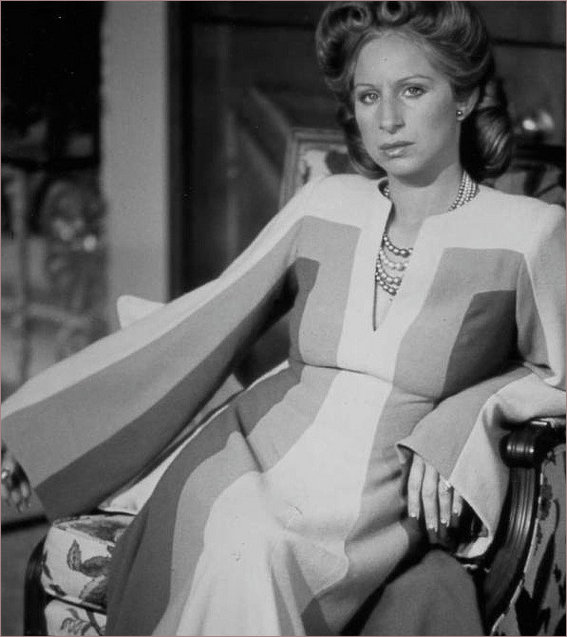 Black and white version of the dress Streisand wore in Funny Ladu