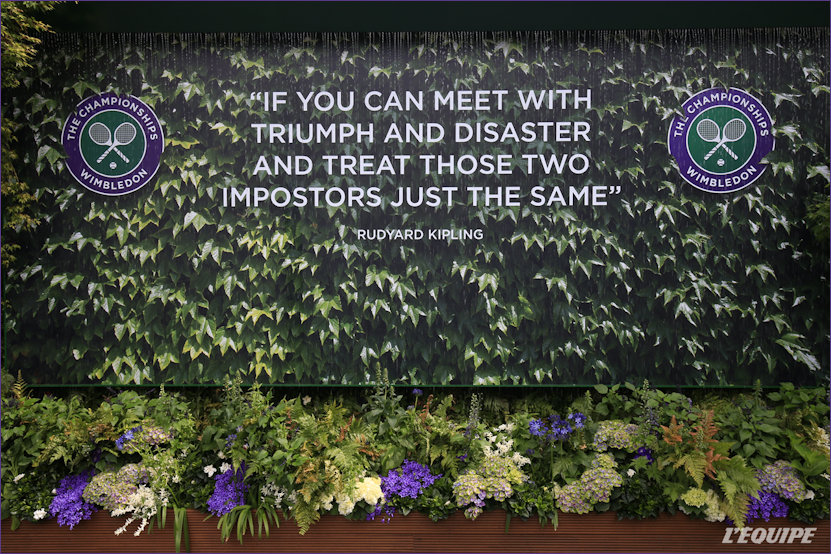 Forever associated with Kipling 'If' at Wimbledon