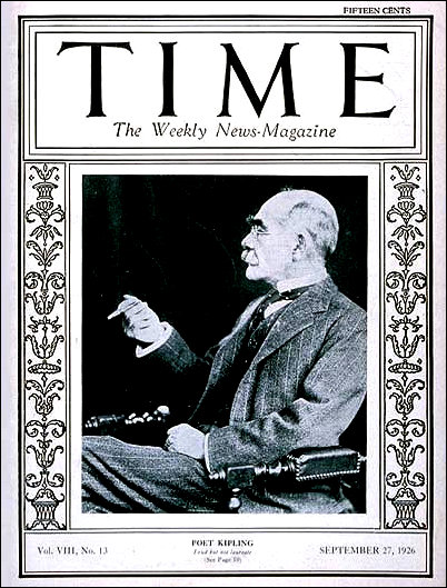 Kipling on the cover of Time Magazine in 1926