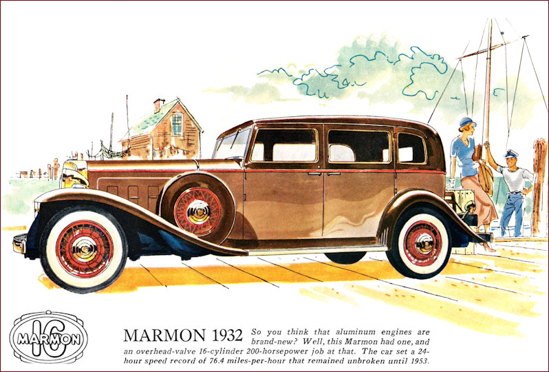 Advertisement for the Marmon 16