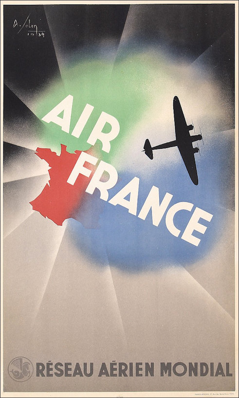 Air France designed by Albert Solon