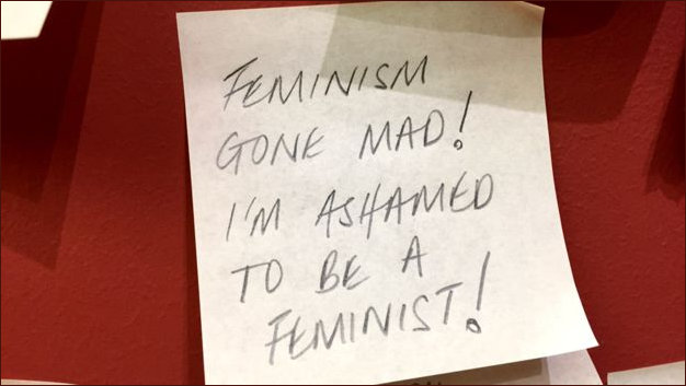 Ashamed to be a feminist PostIt