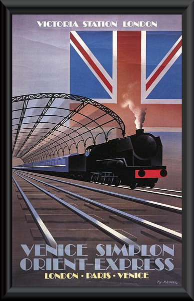 1981 Poster for the revitalised Orient Express