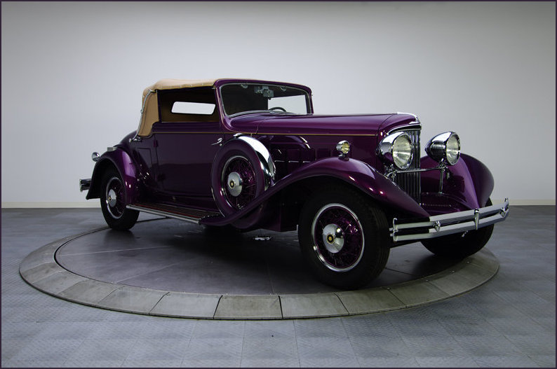 The 1931 Reo Royale with hood up