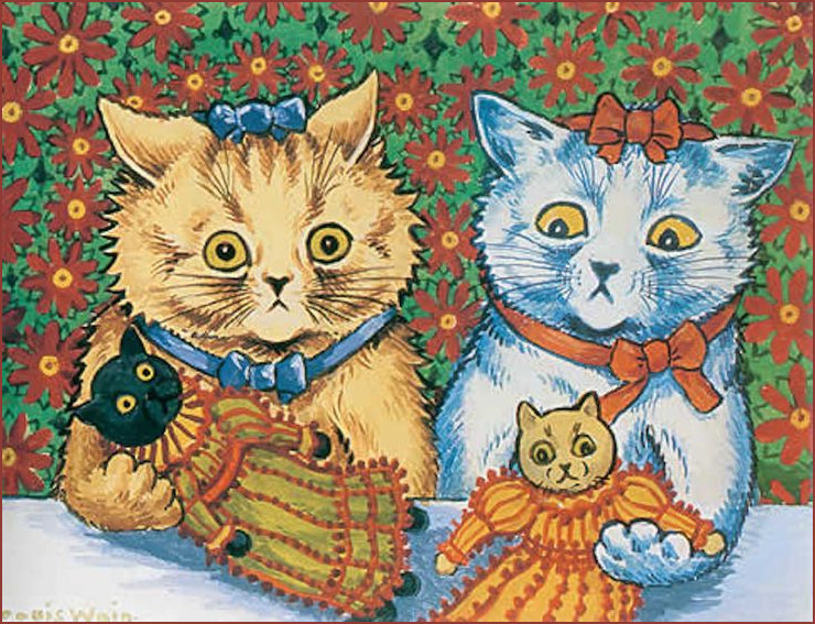 Cats and Cat Dolls by Louis Wain