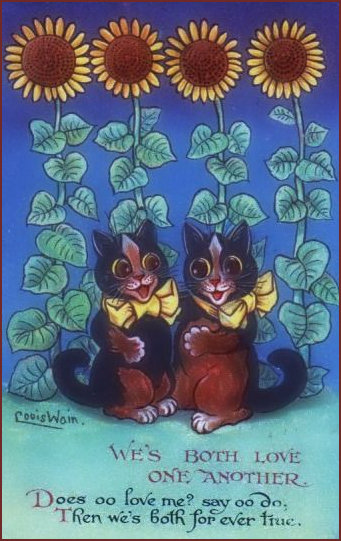 Romantic Cats by Louis Wain
