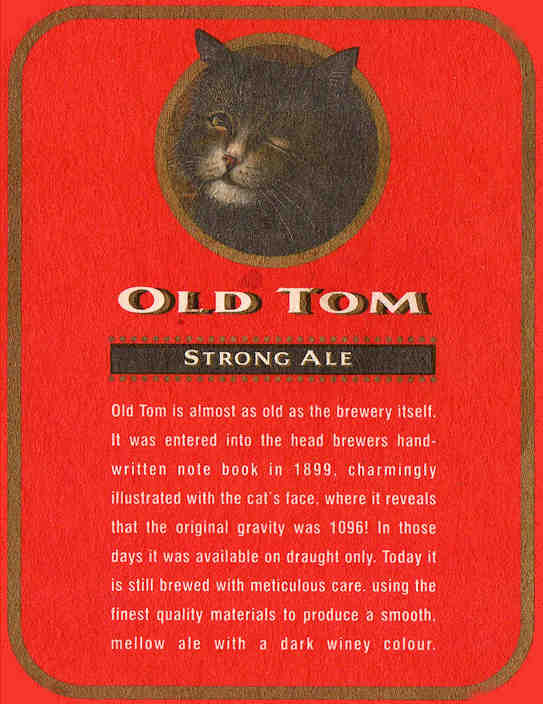 Old Tom Beermat reverse