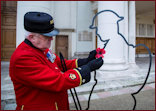 Silhouette initiative with Chelsea Pensioner