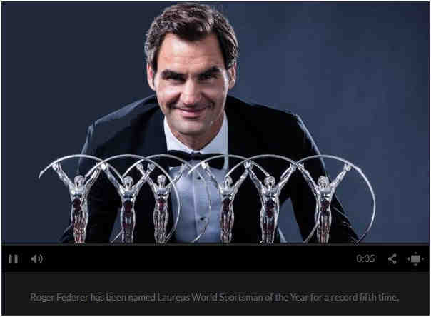 Roger with his many 'best sportsman' trophies