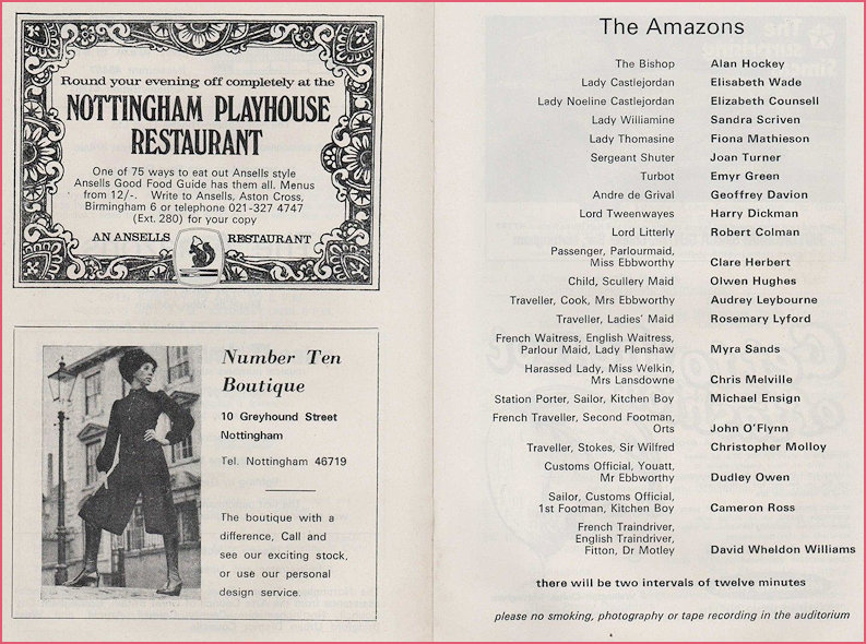Cast List of the Amazons 1971