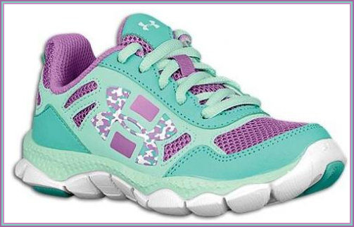 Purple and Green Trainers