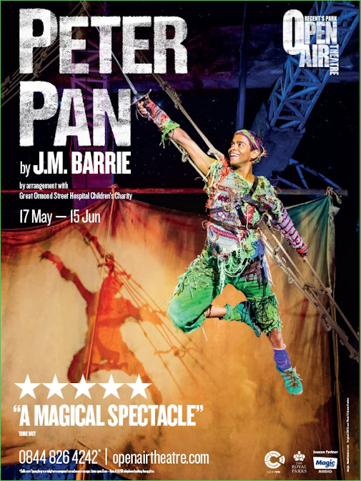 Peter Pan Poster for the Open Air Theatre