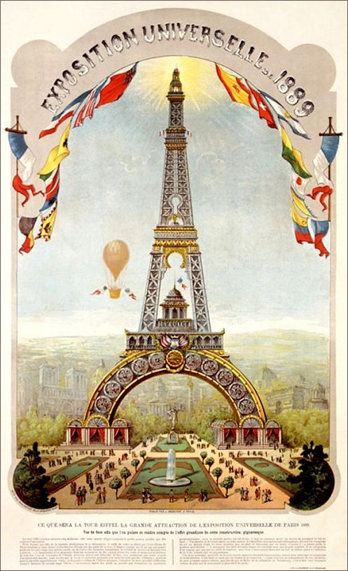 Poster for the 1889 Expo