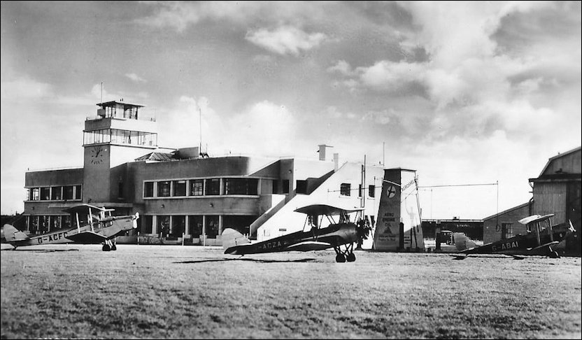 Shoreham Airport and bi-planes
