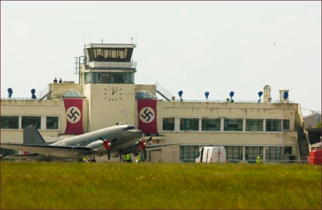 Shoreham Airport disguised as Nazi Airport in 'Woman in Gold'