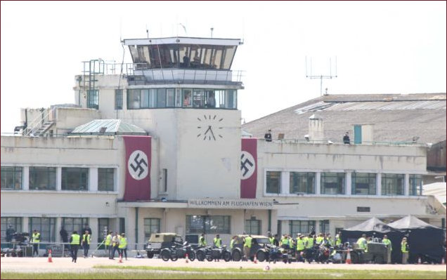 Shoreham Airport disguised hosting actors and crew  in 'Woman in Gold'