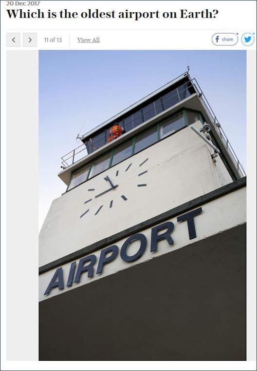 Oldest airport - Shoreham Airport clock tower