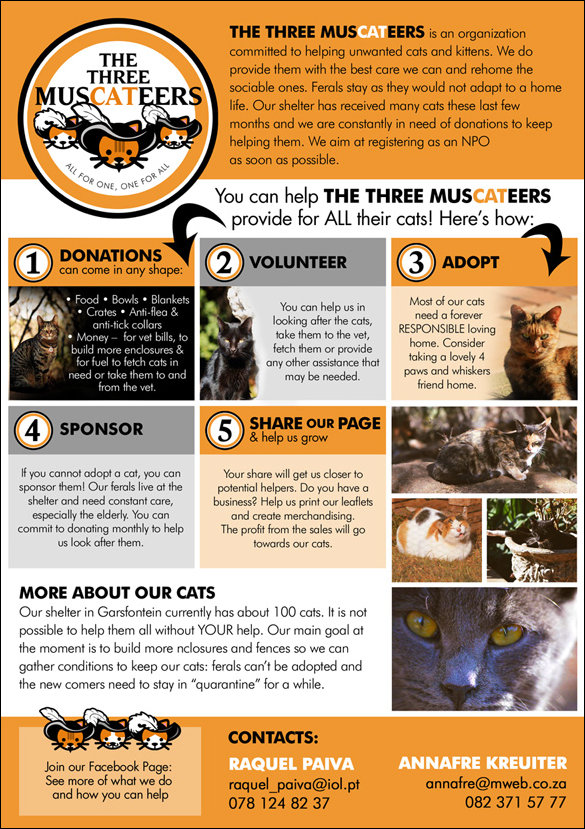 The Three Muscateers Charity Flyer
