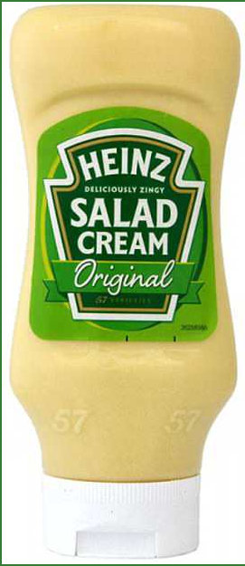 Original Heinz Salad Cream Label