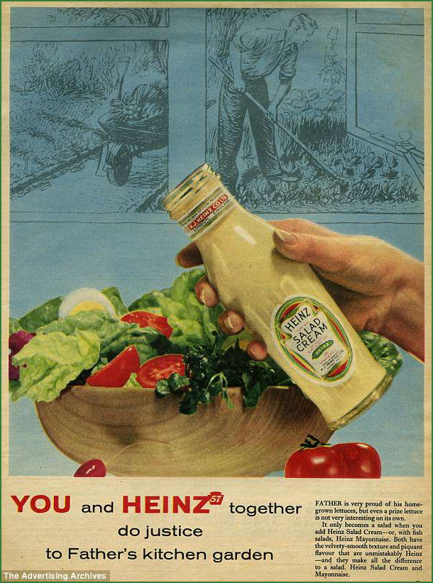 Advert for Heinz Salad Cream circa 1950s or 1960s