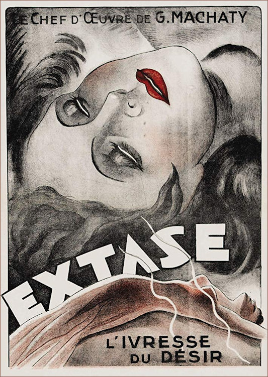 Film poster for 1933 film Ecstasy starring Hedy Lamarr