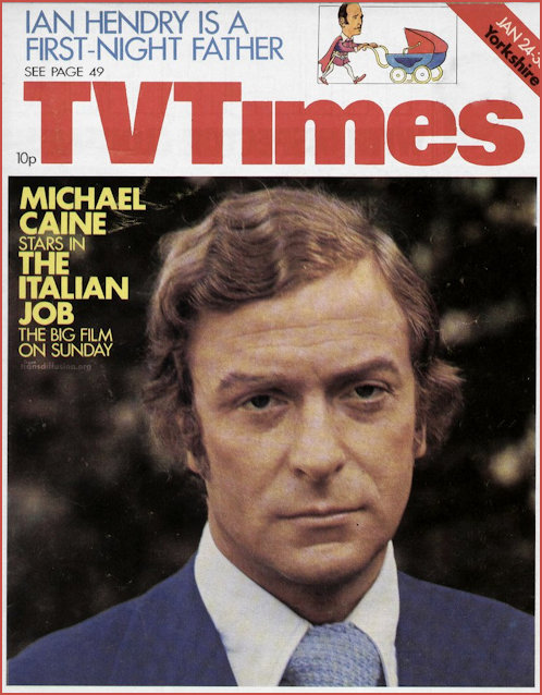 Michael Caine on the Cover of TV Times in 1976