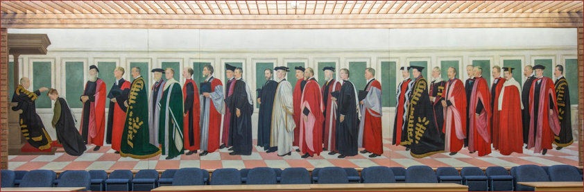 Mural painted by Sor William Rothenstein in 1916