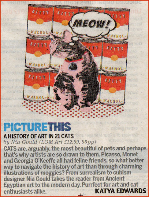 A History of Art in 21 Cats an illustrated guide