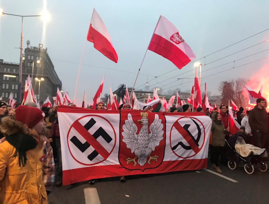 Matthew Schmitz on Twitter Probably the best banner at the Poland independence march