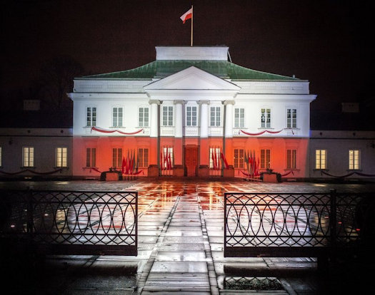 The Presidential Palace and the Belvedere Palace in Warsaw