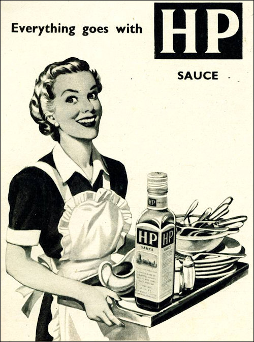 Stereotypical HP Sauce Advert