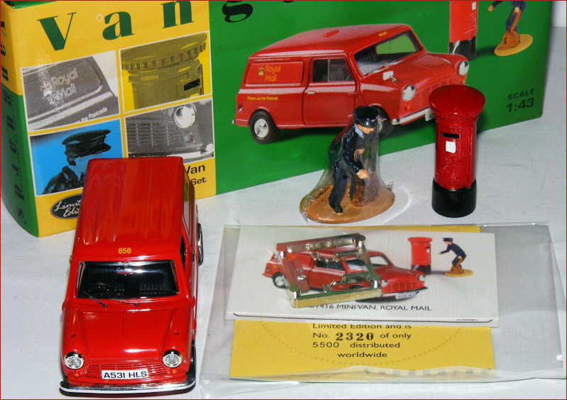 Vanguards also produced a variation of the Royal Mail minivan in their 'Royal Mail Set'