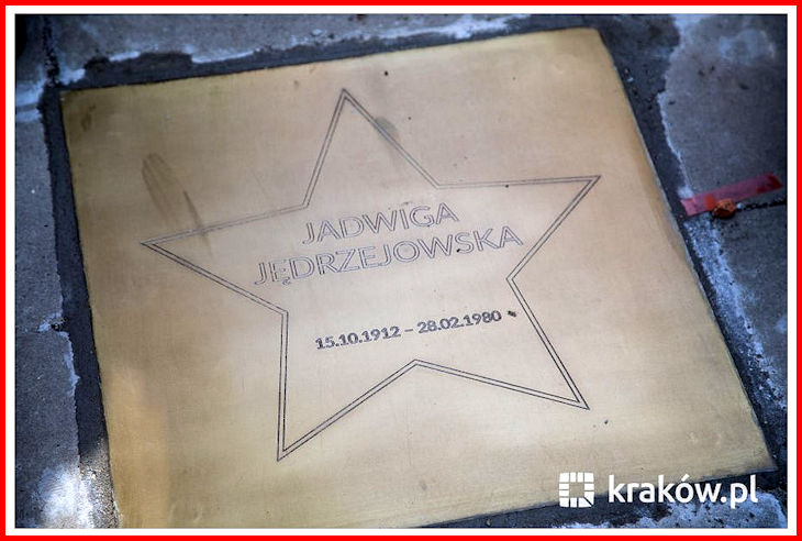 Plaque dedicated to the memory of Jadwiga Jedrzejowska