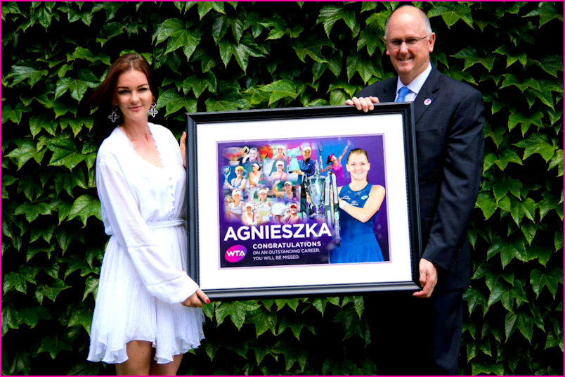 Aga receives WTA tribute at Wimbledon 2019