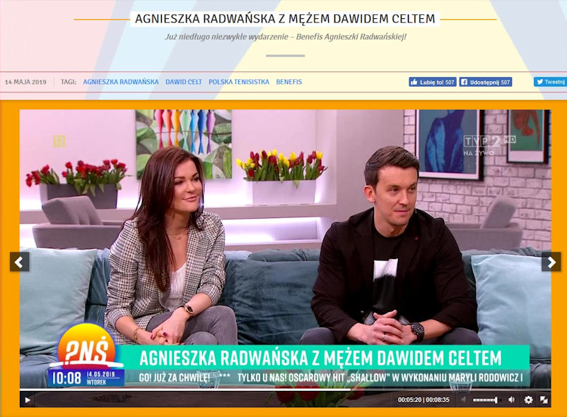 Aga and Dawid on the Sofa on Polish Television's 'Breakfast Question Time.'