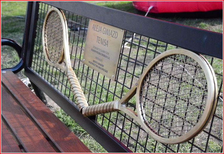 Tennis Star Alley Bench