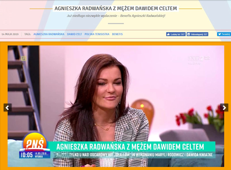 Aga on the Sofa on Polish Television's 'Breakfast Question Time.'