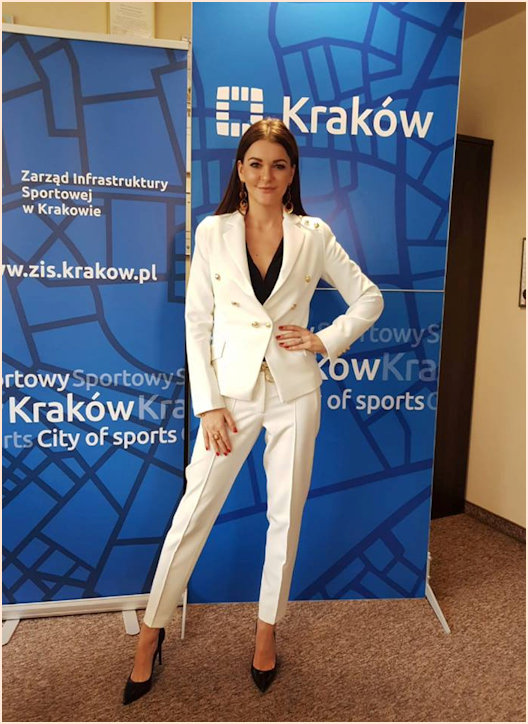 Aga promoting the City of Krakow