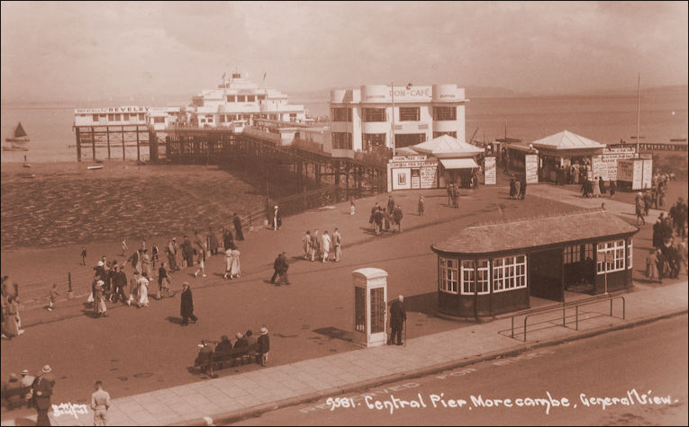 Don Cafe and  Central Pier Morecambe