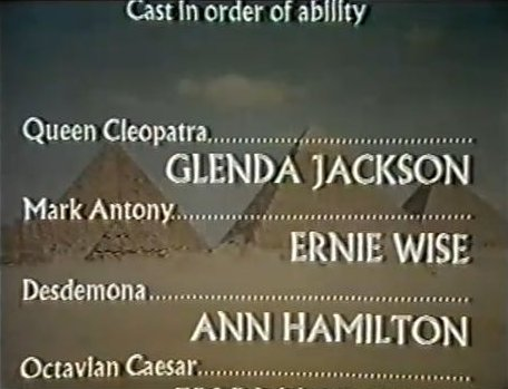Spoof Credits for Cleopatra