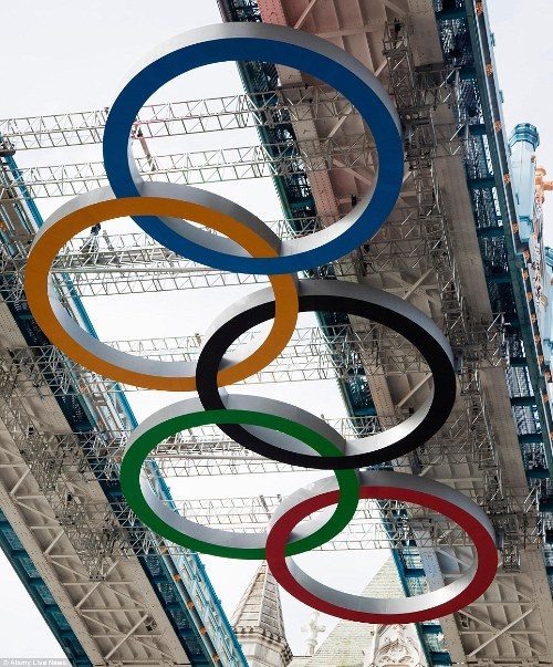 Close Up Olympic Rings