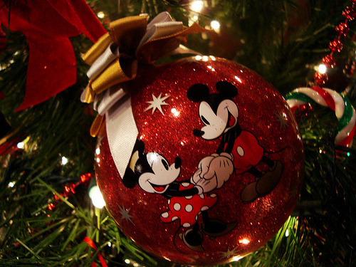 Micky and Minnie Christmas Bauble