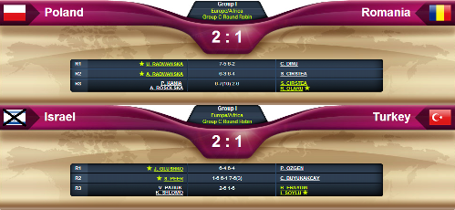 Fed Cup 2013 Results Board