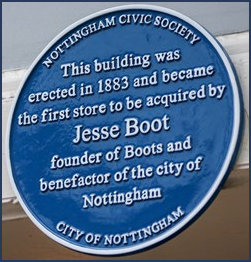 Boots Bue Plaque close up